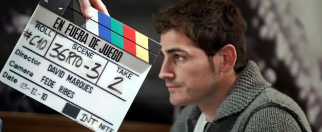 Iker durante el rodaje de la película