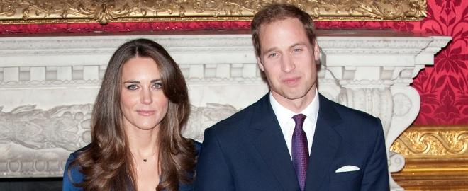Kate Middleton y Guillermo de Inglaterra durante su pedida de mano