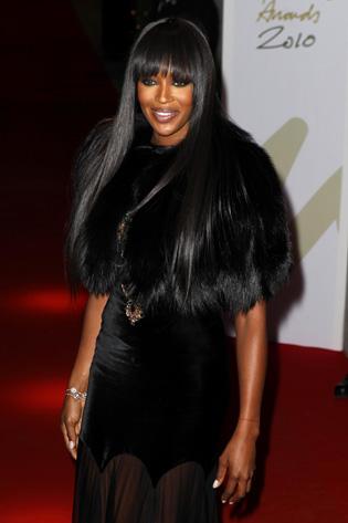 Naomi Campbell en los Premios British Fashion