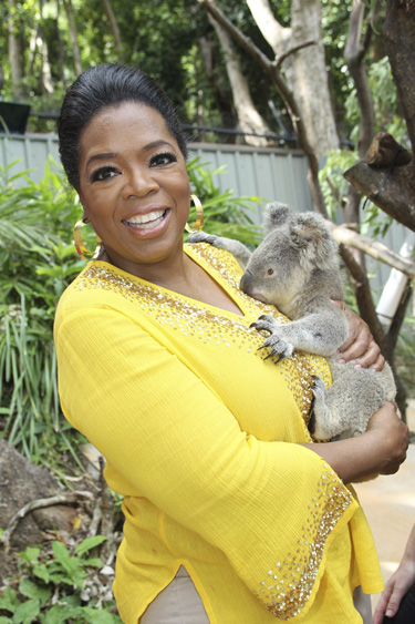 La diva televisiva Oprah Winfrey estará ocho días de gira por Australia