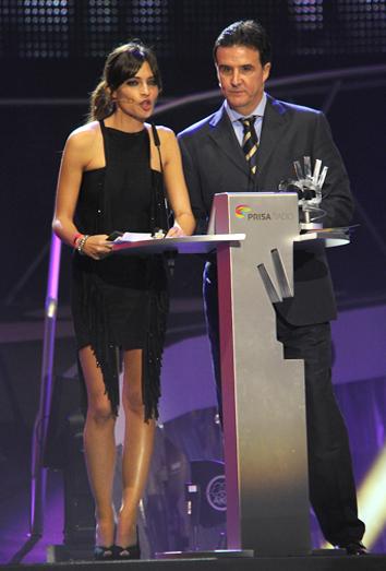 Sara Carbonero presentando los premios