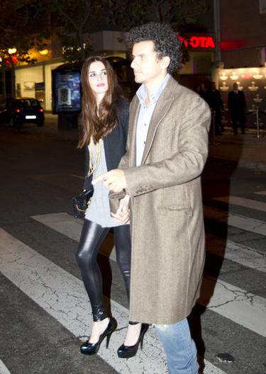 La actriz Paz Vega y su mario Orson Salazar acuden al concierto de Lady Gaga en Madrid