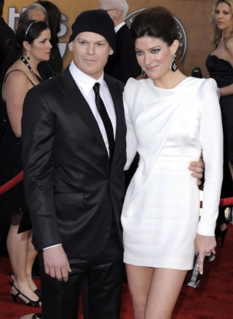 Michael C.Hall y Jennifer Carpenter durante en la alfombra roja