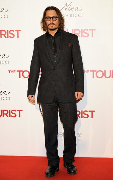 Johnny Depp en la premiere en Madrid de 'The Tourist'