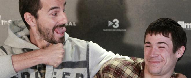 Juan jose ballesta y santi millan en el estreno de burc