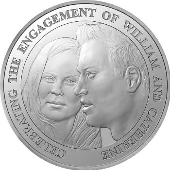 Las polémicas monedas conmemorativas de la boda de Guillermo de Inglaterra y Kate Middleton