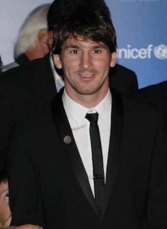 Leo Messi en la gala de su fundación