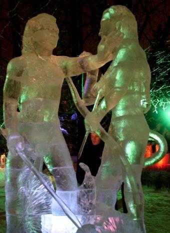 Los na'vi en esculturas de hielo