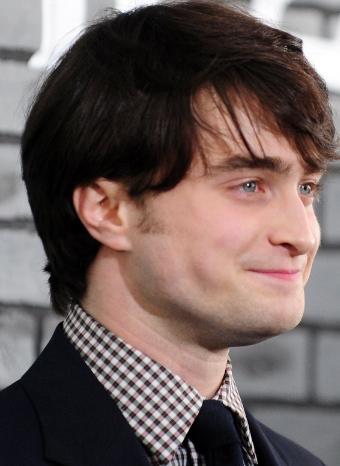 Daniel Radcliffe en una promoción de Harry Potter