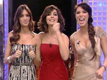 Sara Carbonero, Marta Fernández y Pilar Rubio en la campanadas 2011 de Telecinco