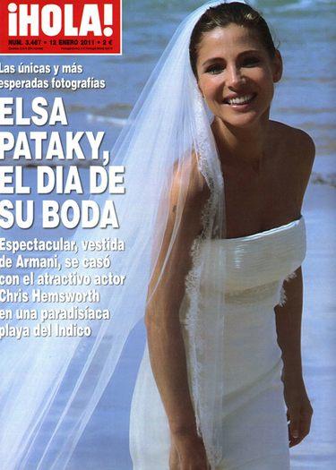 Elsa Pataky vende las fotos de su boda con Chris Hemsworth en una exclusiva a ¡Hola!