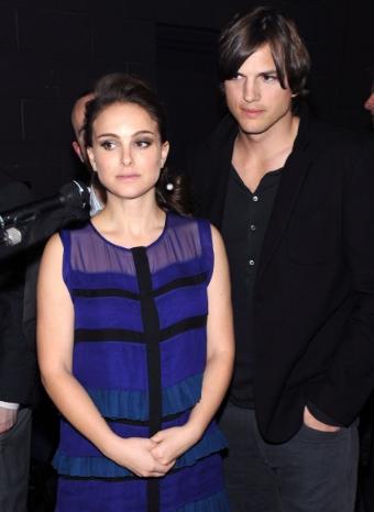 Natalie Portman y Ashton Kutcher en los People's Choice Awards 2011