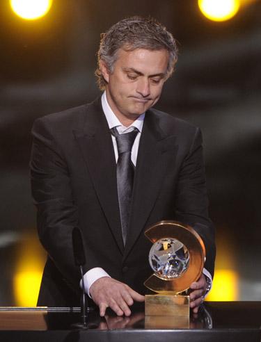 José Mourinho, entrenador del Real Madrid, elegido 'Mejor Entrenador del 2010'