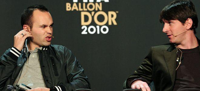 Andrés Iniesta se enfrenta con Leo Messi por el Premio Laureus 2011 al mejor deportista