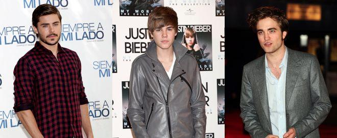 Zac Efron, Justin Bieber  y Robert Pattinson, presentadores de lujo de los Globos de Oro 2011