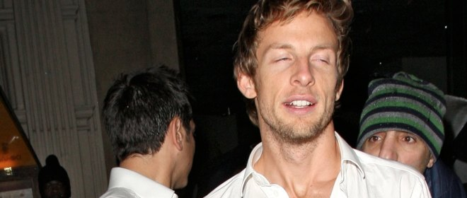 Jenson Button borracho