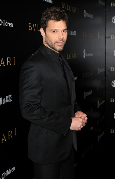 Ricky Martin en la gala benéfica de Bvlgari