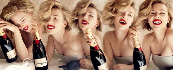 Scarlett Johansson protagonista de la campaña de Moët Chandon