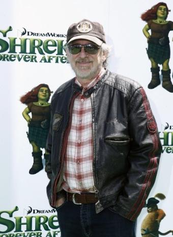 Steven Spielberg en la premiere de 'Shreck'