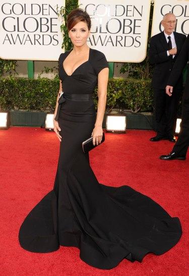 Eva Longoria y Olivia Wilde deslumbran en la alfombra roja de los Globos de Oro 2011
