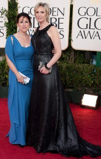 Jane Lynch en la gala de los Globos de Oro