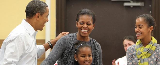 La familia Obama en el Día de Martin Luther King