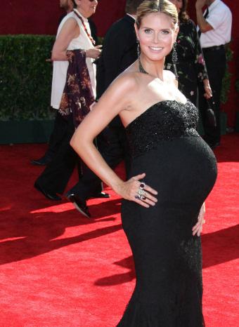 Heidi Klum embarazada en los emmy