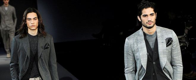 Armani en la semana de la moda de milan