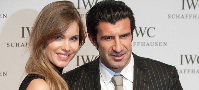 Figo y Helen Swedin y Zidane con su mujer, dos parejas de guapos con la Alta Relojería