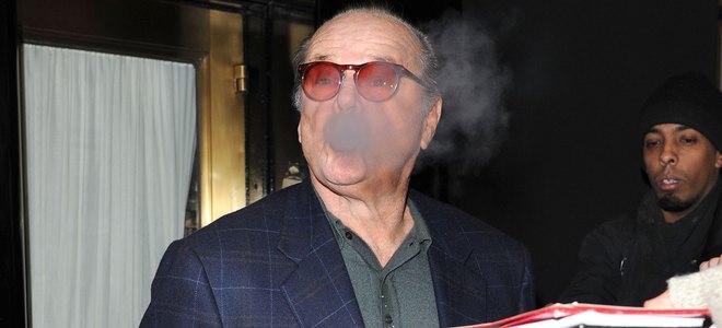 Ley Antitabaco: el reto de los famosos fumadores Jack Nicholson