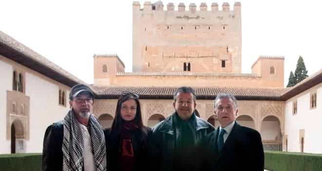 Antonio Banderas durante su visita a La Alhambra