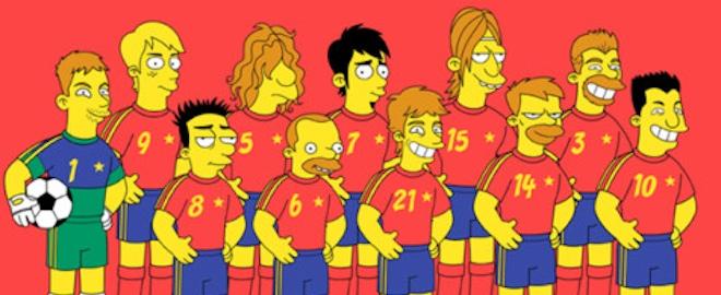 Caricatura de la Selección Española