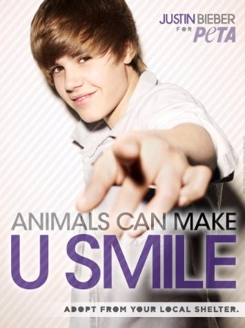 Justin Bieber y Peta