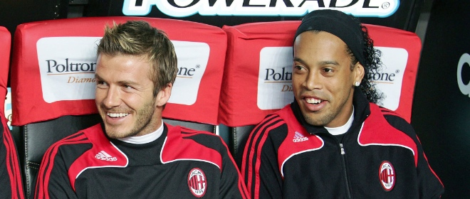Beckhan y Ronaldinho