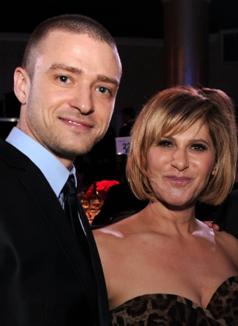 Justin Timberlake y Amy Pascal en la ceremonia de los Premios del Sindicato de Productores