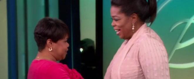 Oprah y su hermana Patricia