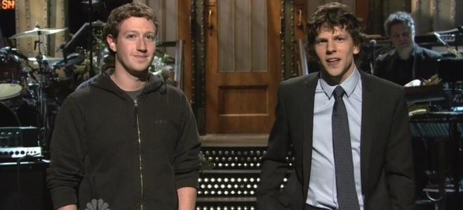 Mark Zuckerberg y Jesse Eisenberg juntos