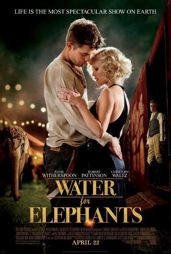 Robert Pattinson y Reese Witherspoon románticos en el nuevo póster de 'Agua para los elefantes'