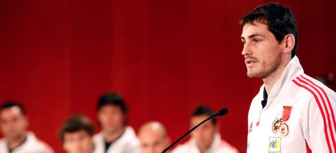 Iker Casillas durante el acto de entrega de los premios