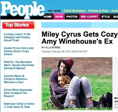 foto de Miley y Josh muy juntitos