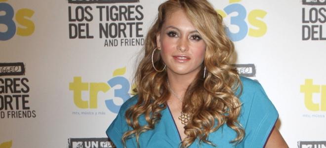 Paulina Rubio en la unplugged de 'Los Tigres del Norte'