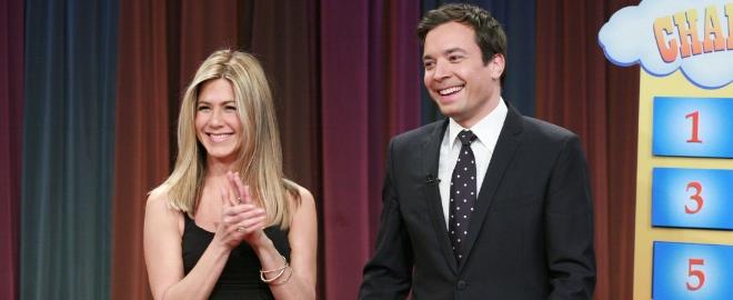 Jennifer Aniston en el programa de Jimmy Fallon