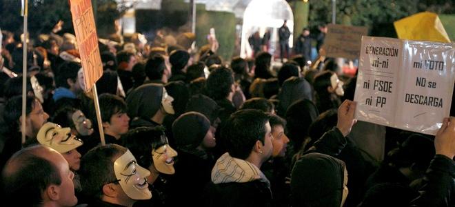 Las protestas contra la Ley Sinde deslucen los Goya 2011