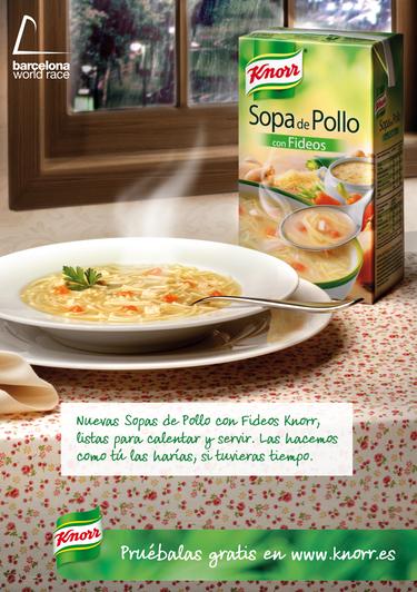 Llegan las sopas de hoy, con el sabor y la calidad de siempre