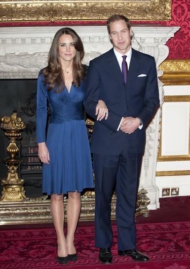 El príncipe Guillermo y Kate Middleton el día de la pedida.