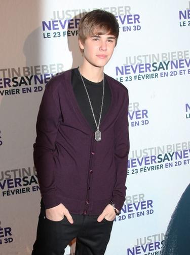 Justin Bieber en la presentación de 'Never Say Never' en París