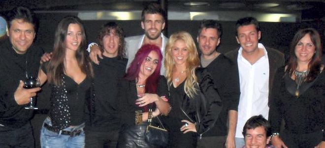 Shakira, Gerard Piqué, Malena Costa, Carles Puyol