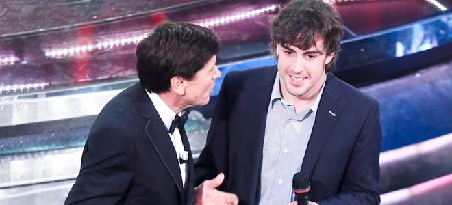 Fernando Alonso, el mejor apoyo de Raquel del Rosario en el Festival de San Remo
