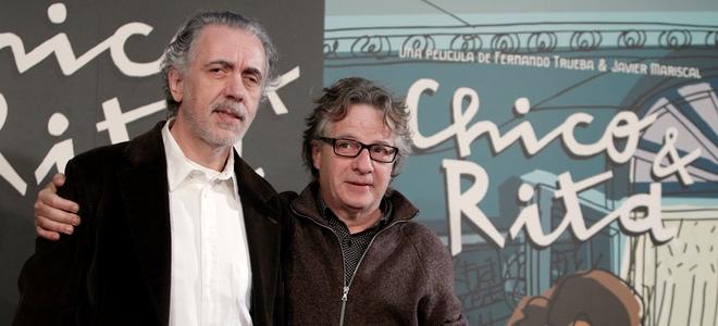 Fernando Trueba y Javier Mariscal presentando 'Chico y Rita'