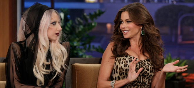 Lady Gaga con Sofía Vergara